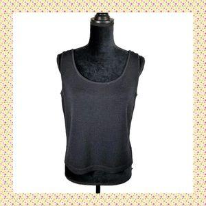 St John Basic Knit Tank S Black